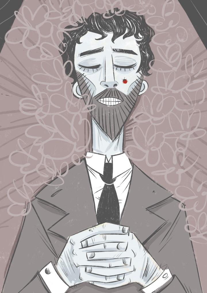 Via Maneki Neko, un racconto di P.T. Caudullo. Illustrazione di Elisa Buracchi