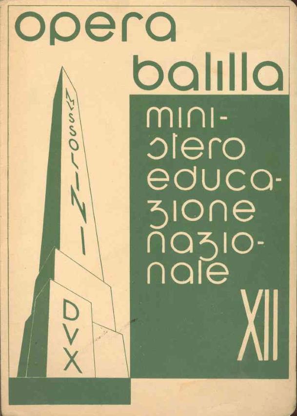 Letture ai tempi del fascismo, un articolo di Tiziana Caudullo Three Faces Opera Balilla