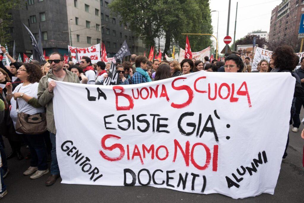 manifestazione per la buona scuola, marzo 2017 Roma