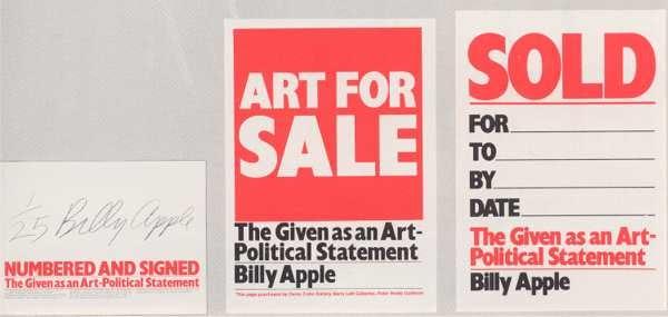 billy apple art for sale