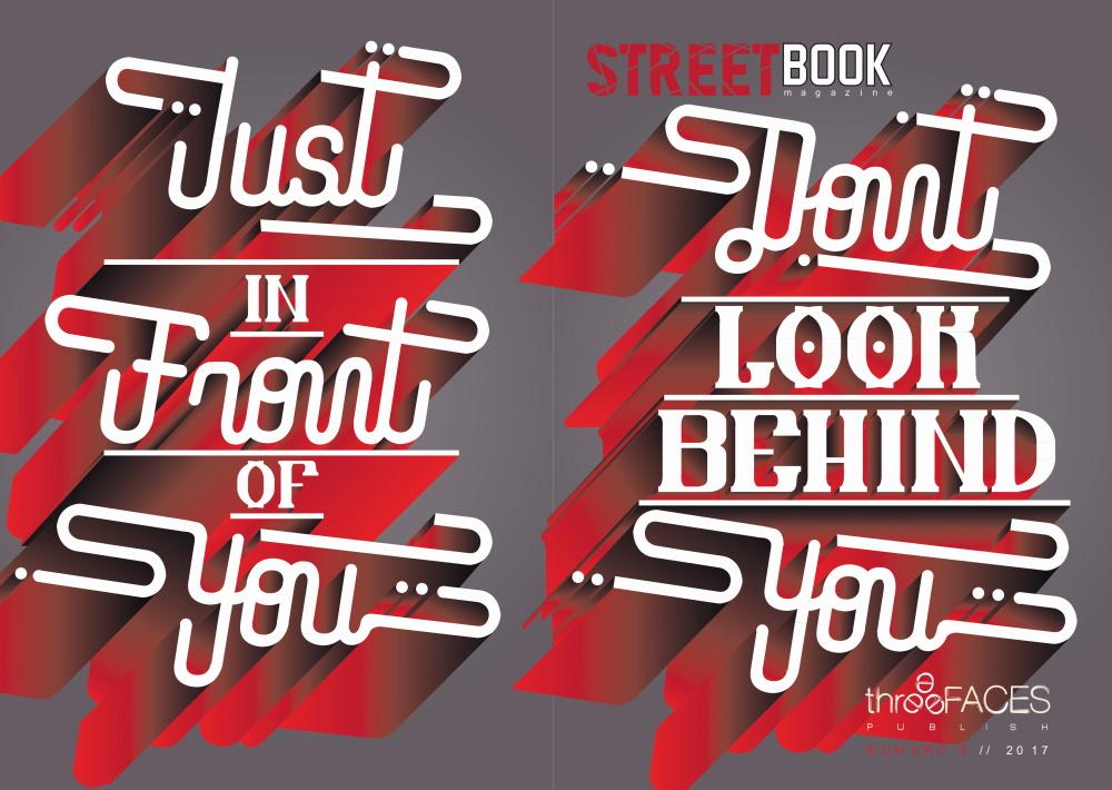 Vista fronte-retro della copertina a opera di Tiziano Corona di SteetBook Magazine #3