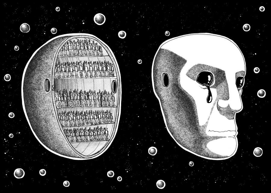 Vista fronte-retro della copertina a opera di Federico Bria di SteetBook Magazine #1