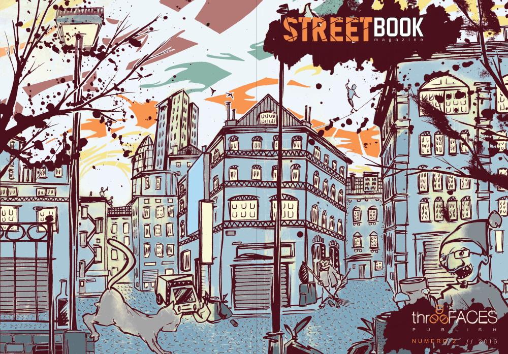 Vista fronte-retro della copertina a opera di Brucio di SteetBook Magazine #2